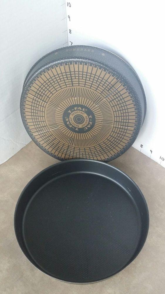 T Fal Teflon Resistal 8 Quot Round Cake Pans Lot Of 2 Vintage