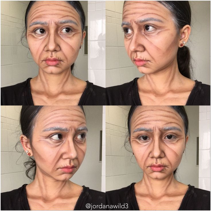 Theatrical Aging Makeup Look