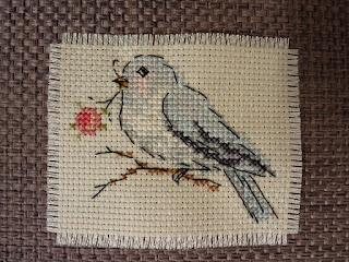 Cross Stitched Bird. No chart here, but it's from issue 247 December 2011 of Cross Stitcher magazine
