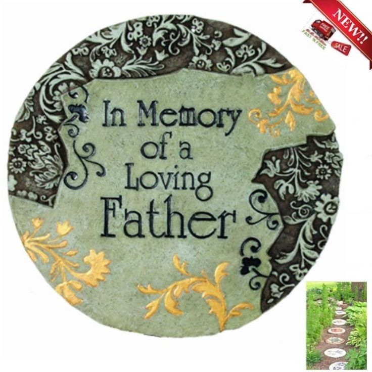 Stepping Stone Memory Father Garden Plaque Walkway Outdoor Indoor Wall Decor Yar #Spoontiques