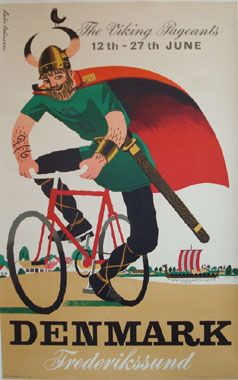 The Viking Pageants • Denmark (1950s) Tourism poster