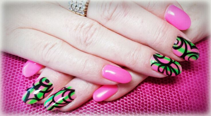 Pink...and funky black