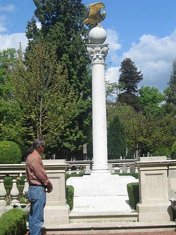 Outside of London, standing at the grave site of Shoghi Effendi, the Guardian of the Baha'i Faith and great grandson of the most recent Manifestation of God, Baha'u'llah (the Glory of God).