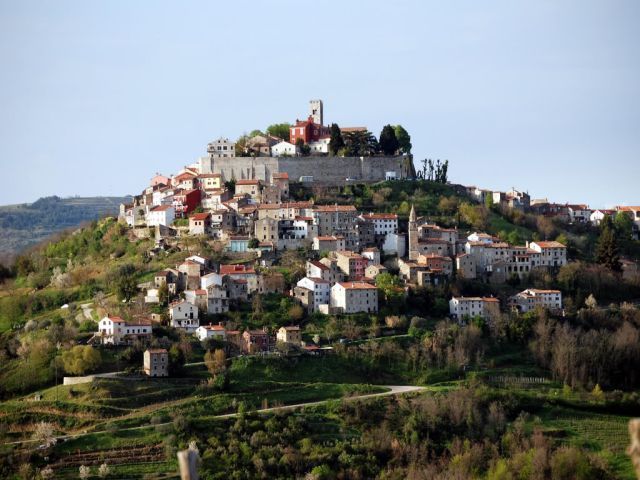 Motovun, Croatia   Wine and truffle country with an  ancient city surrounded by a wall to keep the invaders out.