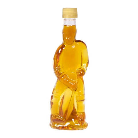 Maple syrup in a Hockey Player shaped bottle
