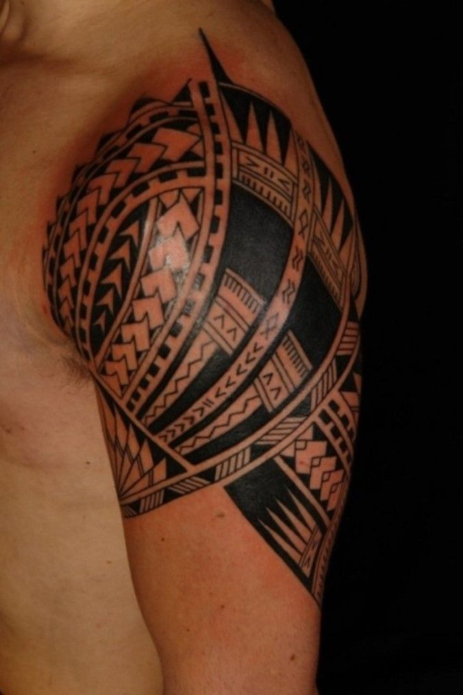 9dd29a23f 05 Forearm Sleeve Tattoo Designs for Men #Samoantattoos. I like the dark  long triangular at the bottom right.