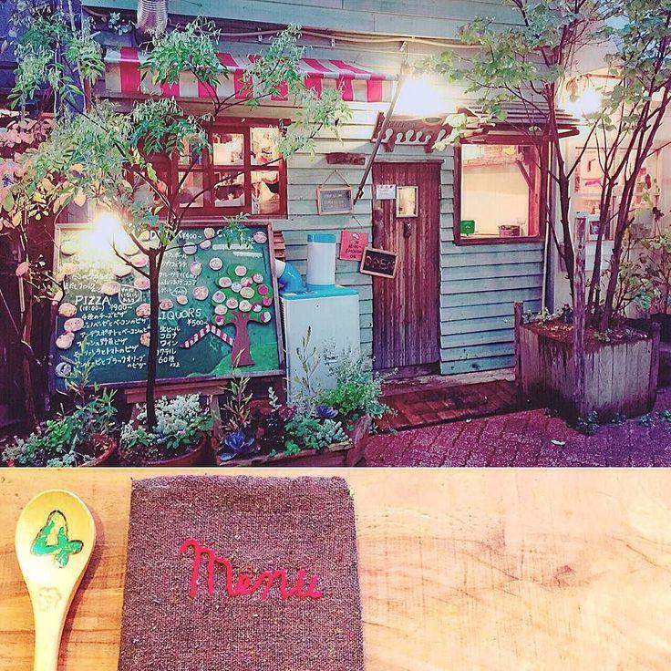 とっても可愛い店外と店内とmenuと伝票 #menu #home #shop #eat #cute #biluding #cutebiluding #cuteshop #japan #koenji #tokyo #HATTIFNATT #cafe #ハティフナット #高円寺 #カフェ #東京 #日本 #お店 #可愛い #建物 #可愛い建物 #メニュー by nc_angel_