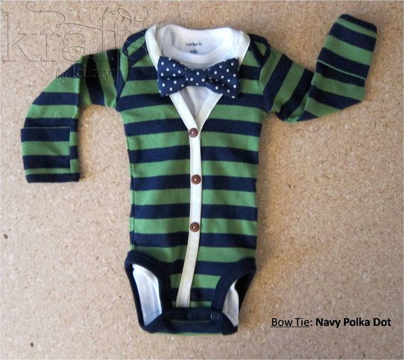 Baby Boy Green/Gray Stripe with Blue Cardigan Outfit with Removable Blue  Polka Dot Bow Tie - 25+ Best Ideas About Gray Cardigan Outfits On Pinterest Cozy