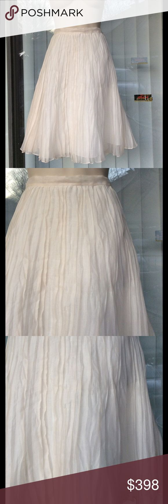 Ralph Lauren Collection exquisite pleated nwt 100%cotton,lined Ralph Lauren collection Skirts A-Line or Full