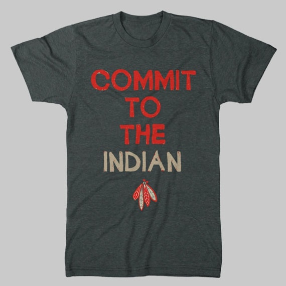 Commit to the indian vintage chicago blackhawks t shirt for Vintage blackhawks t shirt