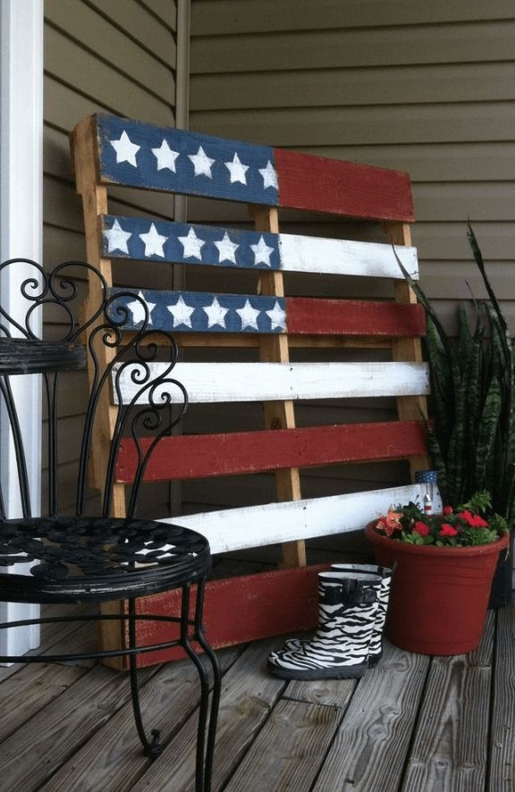 Image result for painted pallet fourth of july