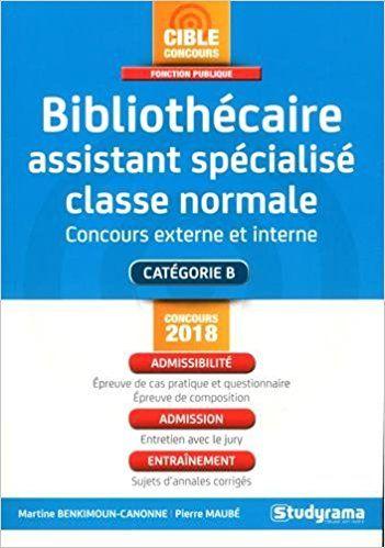 Bibliothécaire assistant spécialisé classe normale - Martine Benkimoun-Canonne, Pierre Maubé