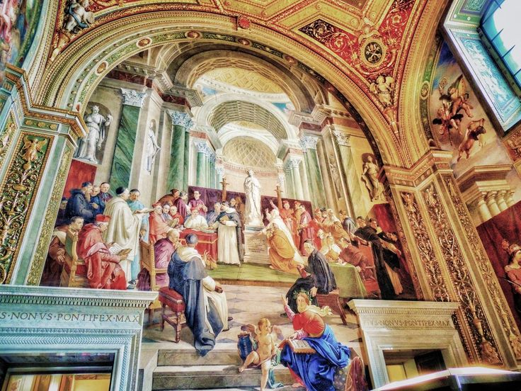 Vatican Museum. by Ravi S R  This awesome painting work in the Vatican Museum is great due to it's rendering in a 3D with awesome depth. Painted by the Master himself (Michael Angelo).