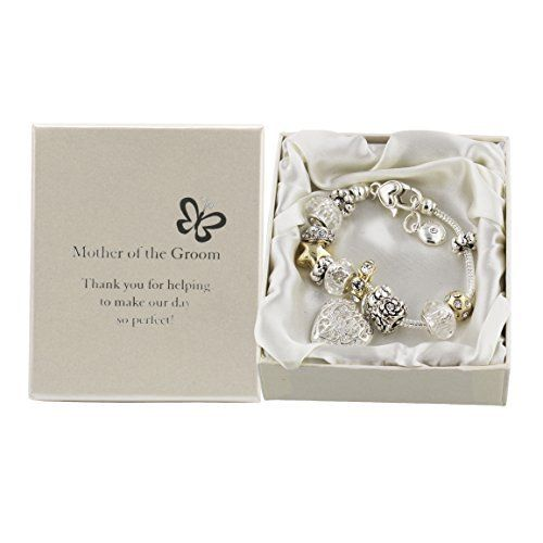 Amore Silver/Gold Bead Charm Bracelet - Mother of the Groom  Price : £12.99 http://www.bronzebarngallery.com/Amore-Silver-Gold-Charm-Bracelet/dp/B004LP3T1M