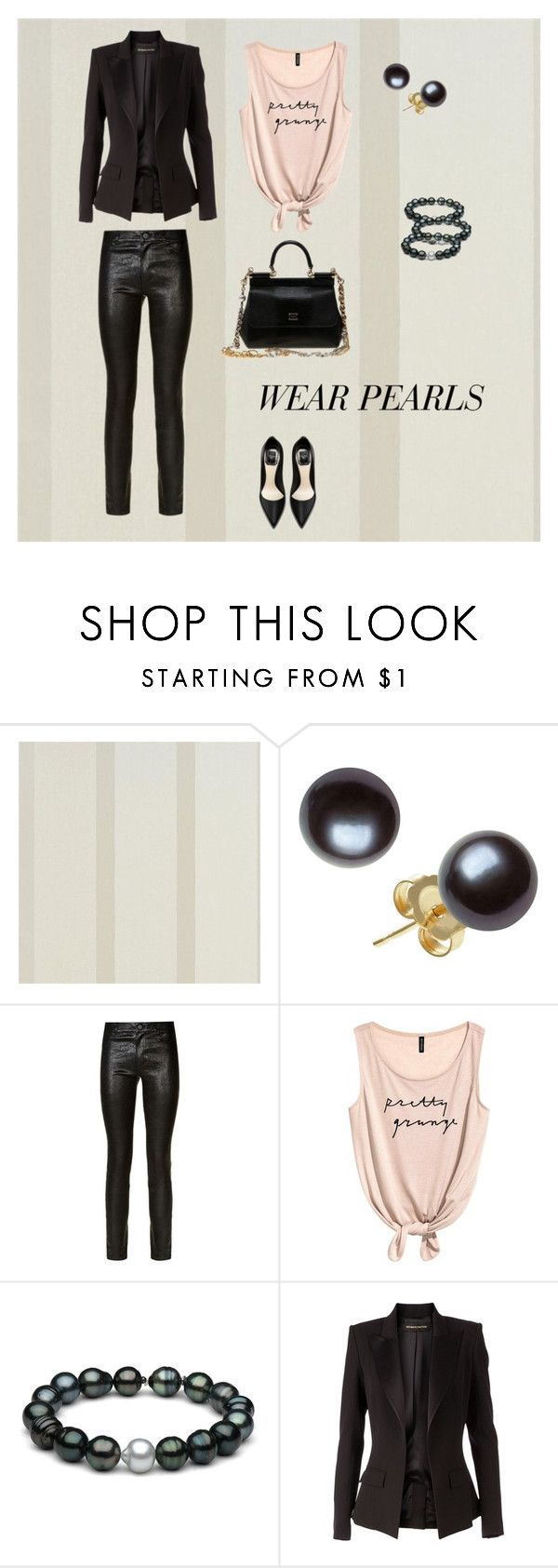 """PEARLS"" by natyapshopper on Polyvore featuring moda, Paige Denim, Alexandre Vauthier y Dolce&Gabbana"