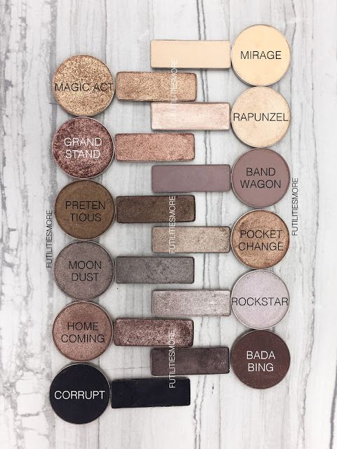 URBAN DECAY NAKED 2 PALETTE DUPES WITH MAKEUP GEEK EYESHADOWS http://amzn.to/2t3FEw7