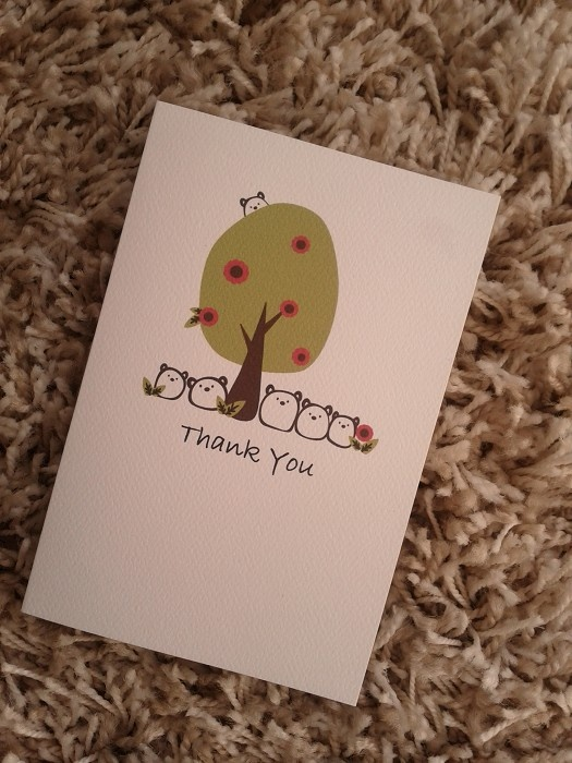 The Gum Bears - Cute Thank You Card on White Textured Cardstock - by CuteKotori on madeit