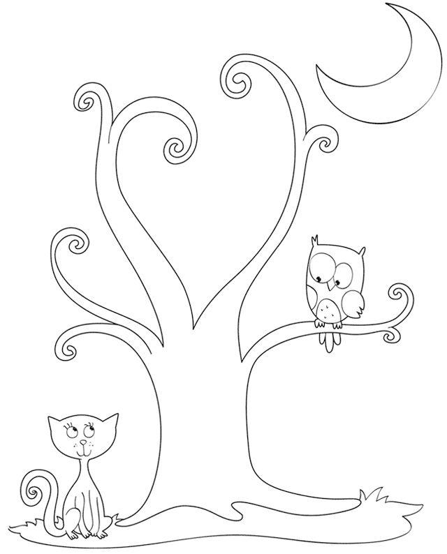 pdf stampabile da colorare printable pdf: http://www.inunamatita.it/d/halloween-albero.pdf