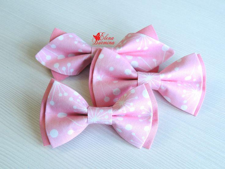 Купить Комплект бабочек со снежинками розовые: папа-мама-сын, хлопок - розовый