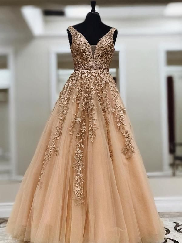 4fca4c1e082 Long Lace Applique Prom Dresses Cheap Ball Gown Prom Dress APD3298-SheerGirl