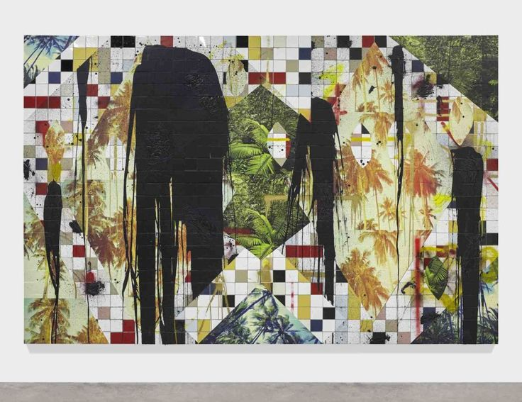 Rashid Johnson Untitled Escape Collage 2016 © The artist Courtesy Hauser &…