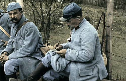 Grande Guerre, WWI. Ecriture du courrier.