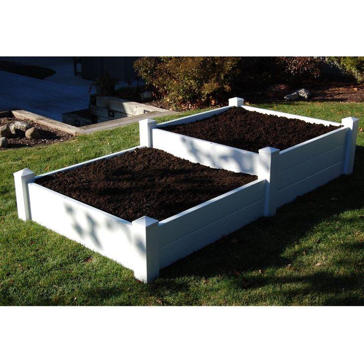 Dura-Trel 4 x 8 Rectangle Split Level Raised Planter Bed - Raised Bed & Container Gardening at Hayneedle. Sale Price: $287.99. List Price: $399.99.
