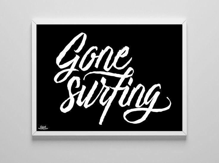 Läjet Printworks - Gone Surfing 30x40