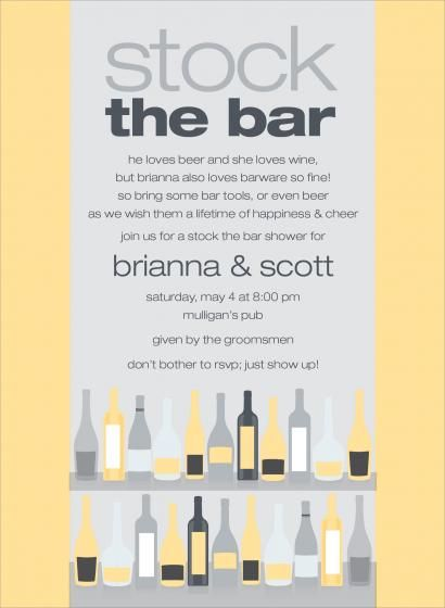 Stock The Bar Invitation Wording as nice invitation layout