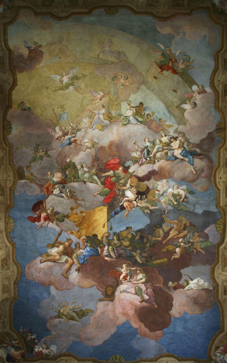 Daniel Gran - Alegorie dobré vlády Moravy (1734-35, Moravský zemský dům/Nová radnice Brno - Sněmovní sál)