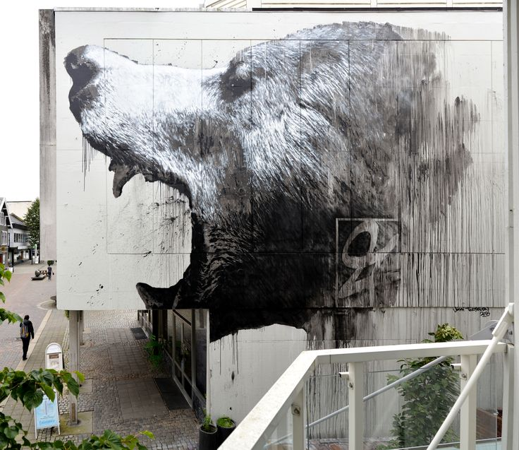 Street art by Jussi Twoseven in Sandnes, Norway.