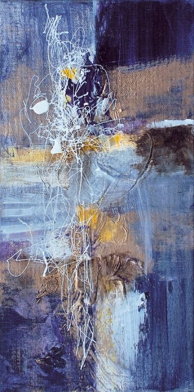 "Saatchi Art Artist: Marcela Ramirez-Aza; Mixed Media 2013 Painting ""Gracia 1 Sold"""