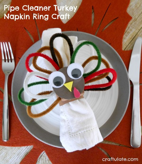 711 best craftulate images on pinterest kids crafts for Pipe cleaner turkey craft