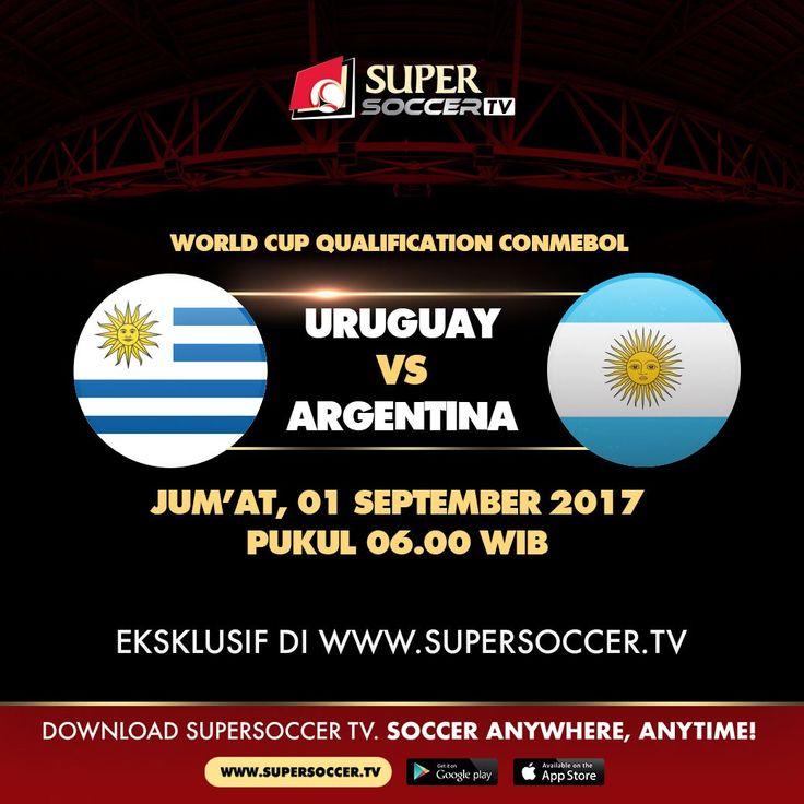 Laga hidup mati - Menang adalah pilihan Argentina jika masih mau lolos ke Piala Dunia. Uruguay juga masih belum aman. Mereka ingin menghapus rekor lima pertandingan terakhir yang selalu kalah.     Saksikan kualifikasi Piala Dunia 2018 zona Amerika Selatan secara gratis hanya di #SuperSoccerTV. Segera daftarkan akun Anda dengan klik http://bit.ly/SSTVConmebol atau download Aplikasi Super Soccer TV di Android & iOS      #SoccerAnywhereAnytime