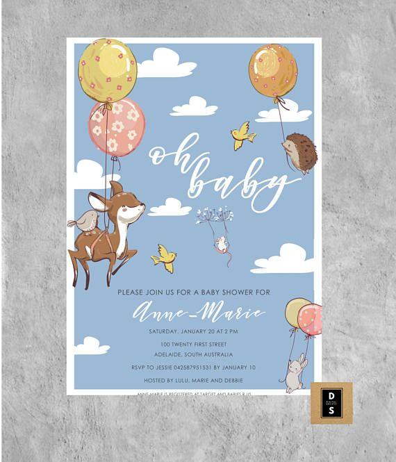 printable digital baby shower invitation invitations