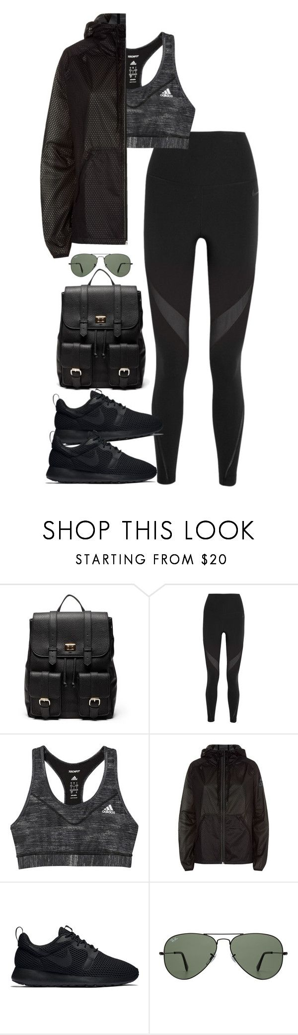 Bez naslova #1065 by nely01 on Polyvore featuring moda, NIKE, adidas, Sole Society and Ray-Ban