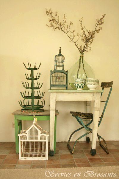 I really want a French bottle rack!