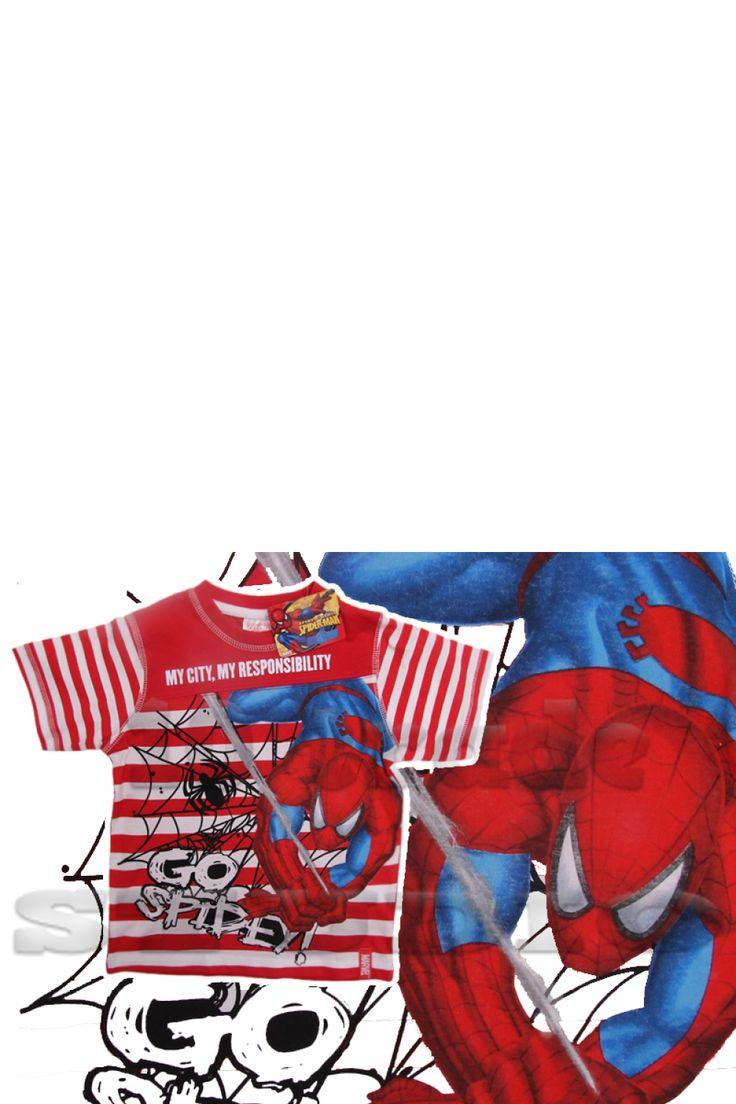 Cool T-shirt model 30283 Spiderman Check more at http://www.brandsforless.gr/shop/kids/t-shirt-model-30283-spiderman/