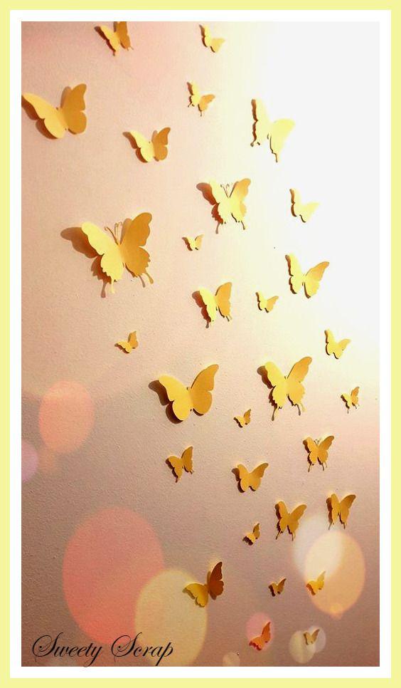 17 meilleures id es propos de d coration murale 3d sur for Decoration murale papillon 3d noir