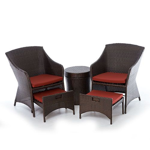 Captivating Fairview 5 Piece All Weather Wicker Seating Set   @ Boscovs