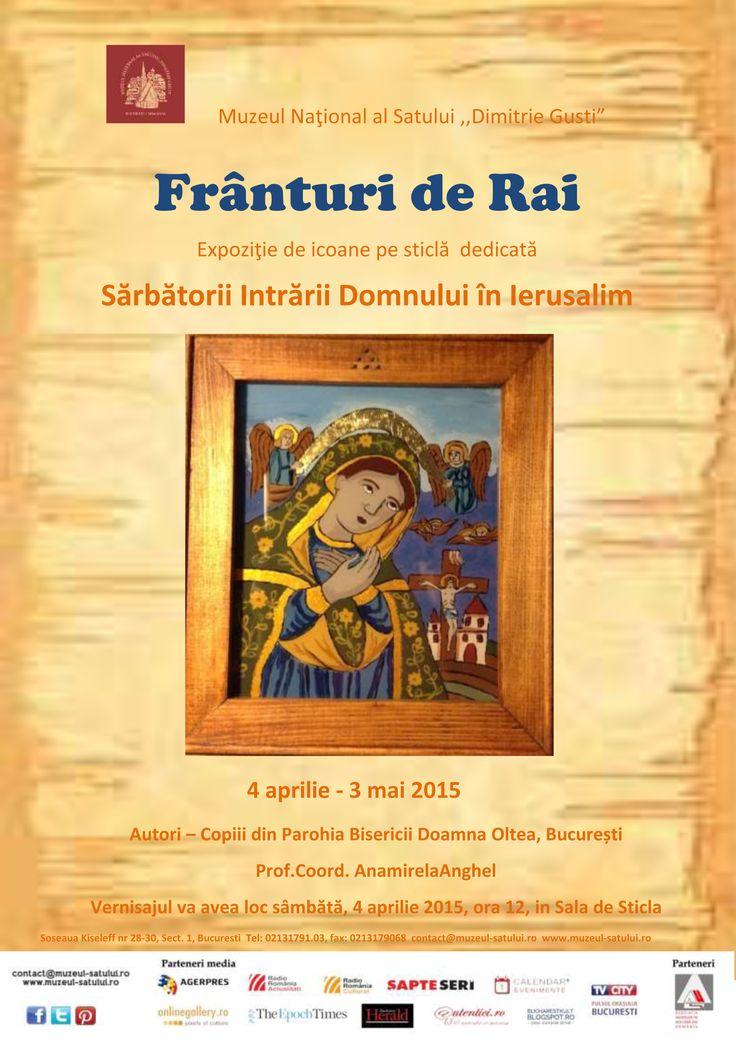 Franturi de rai - expozitie de icoane pe sticla, realizata de copii parorhiei bis. Doamna Oltea, Bucuresti