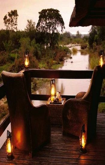 Londolozi Game Reserve...a perfect evening for two...