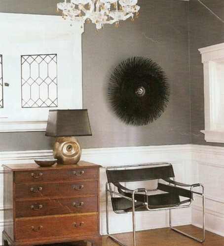 grasscloth and wassily chair