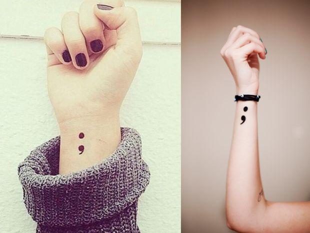 IL tatuaggio punto e virgola contro la depressione.