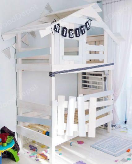 theДомик – Детский домик / детская кровать чердак, игровой детский домик, деревянная кровать чердак, Домик для детей