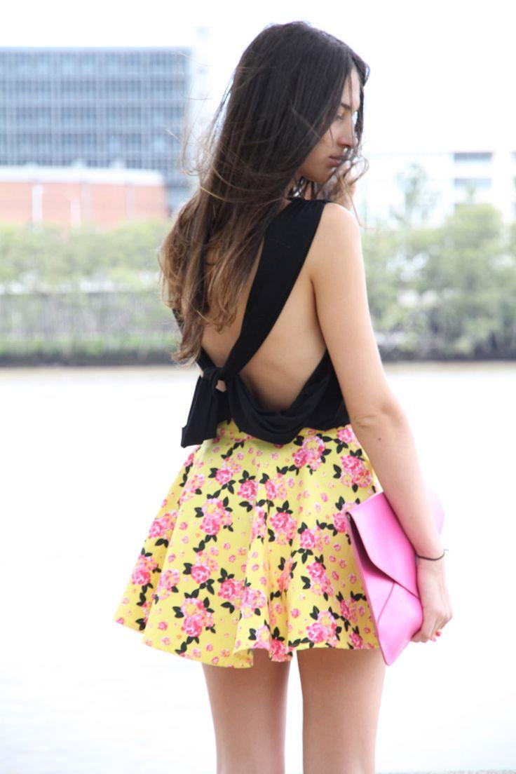 DIY shirtBows Bridges, Fashion Dresses, Style, Clothing, Closets, Diy Shirts, Zina Tops, Black, Floral Dresses