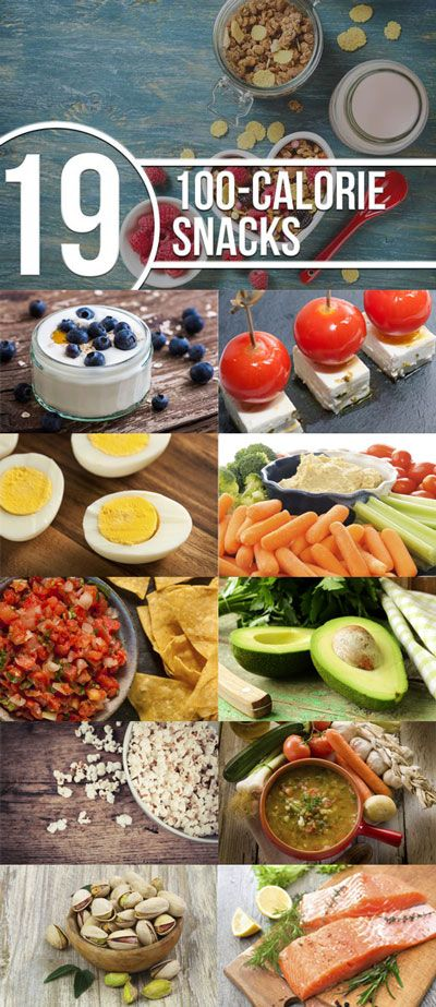 These healthy 100-calorie snacks are easy to prepare, pack and travel with: http://www.livestrong.com/slideshow/1008641-19-easy-100calorie-snacks