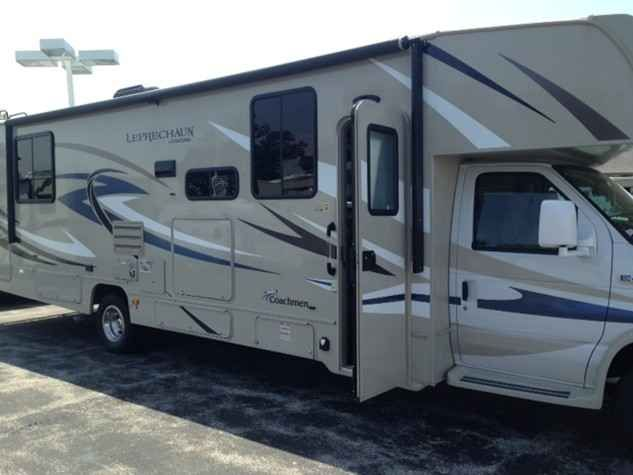 2016 New Coachmen LEPRECHAUN 319DSF Class C in Illinois IL.Recreational Vehicle, rv, 2016 Coachmen LEPRECHAUN 319DSF, DUAL RECLINERS ,OUTSIDE ENTERTAINMENT CENTER THIS RV IS LOADED WITH GREAT EXTRAS AND HAS A LOW SALE PRICE OF $78,800.00
