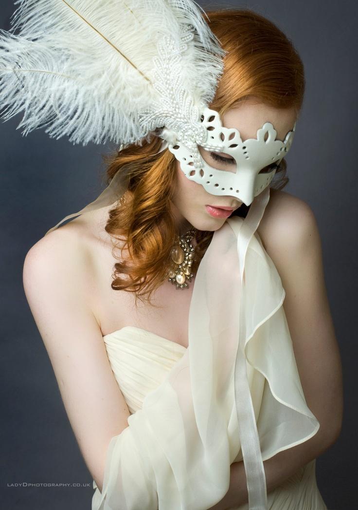 Luxury Ivory  Pearl Bead Masquerade Wedding Prom Mask. $95.99, via Etsy.