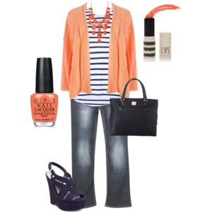 plus size outfit. I hate the shoes and shirt! Black flats would be fine and a Navy blue tee for me.